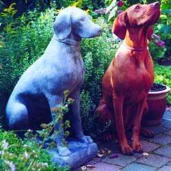 Dog Stone Garden Sculpture