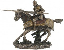 Picture of Jousting Knight Bronze Figurine