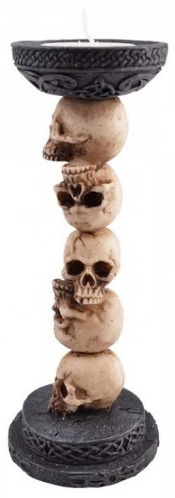 Picture of Skull Column Tea Light Holder New Release