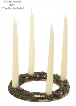 Picture of Bronze Advent Wreath with Candles