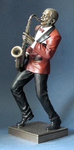 Picture of Saxophone Player Jazz Bronze Figurine