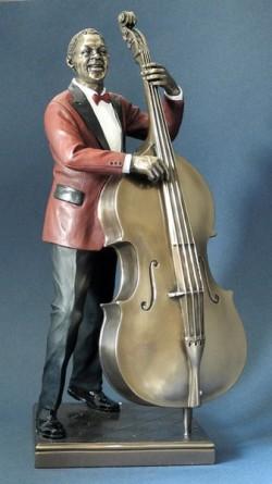 Picture of Bass Player Jazz Bronze Figurine