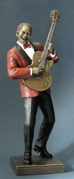 Picture of Guitar Player Jazz Bronze Figurine