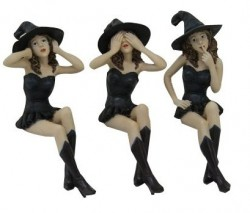 Picture of Three Wise Witches Shelf Sitters 16 cm