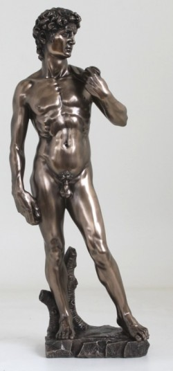 Picture of David Bronze Figurine Statue Large 51 cm