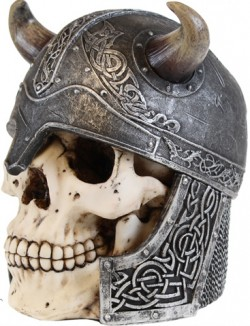 Picture of Valhalla Viking Skull Box Large