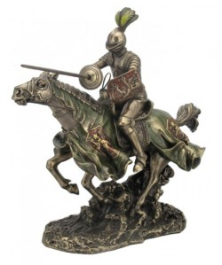 Picture of Tournament Knight Charging Figurine