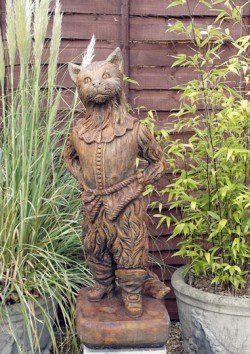 Picture of Whittingtons Cat Stone Sculpture Burnt Umber Finish