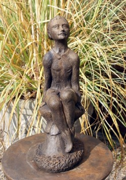 Picture of Pixie Stone Garden Ornament Burnt Umber Finish