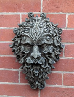 Picture of Green Man Stone Wall Plaque Large