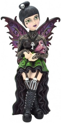Picture of Orchid Gothic Fairy Figurine 16cm (Little Shadows)