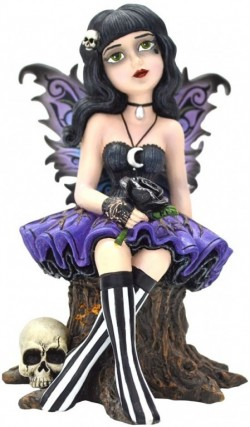 Picture of Twila Gothic Fairy Figurine 15cm (Little Shadows)
