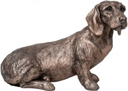 Picture of Rudi Dachshund Dog Sitting Bronze Sculpture Harriet Dunn