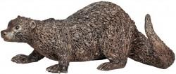 Picture of Otter Crouching Bronze Sculpture Veronica Ballan