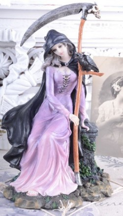 Picture of Mystic Girl with Scythe Gothic Figurine