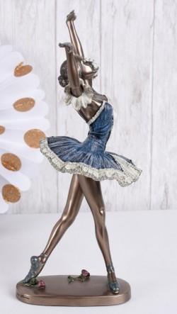 Picture of Dancing Ballerina Blue Dress Bronze Figurine 27 cm