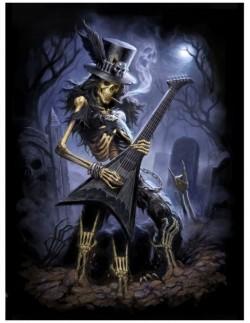 Picture of Play Dead Skeleton Rocker 3D Picture 28.5 x 38.5cm.