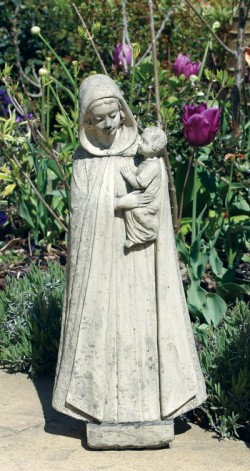 Picture of Madonna and Child Stone Garden Statue 54cm