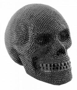 Picture of Black Diamante Skull Ornament MEDIUM