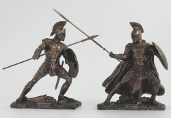 Picture of Achilles and Hector In Battle Bronze Figurine 25.5 cm
