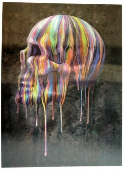 Picture of Dripping Skull 3D Poster 28.5 x 38.5cm
