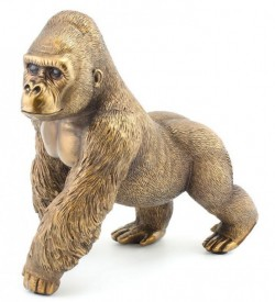 Gorilla bronzed figurine large the leonardo collection - Gorilla figurines ...