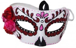 Picture of Candy Rose Sugar Skull Costume Mask