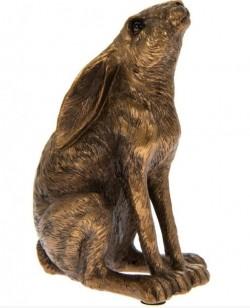Picture of Moon Gazing Hare Bronze Figurine Leonardo Collection 12cm