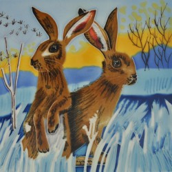 Picture of Bright New Day Hares Wall Decor 20cm