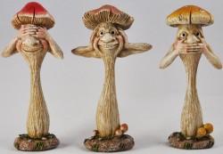 Picture of Three Wise Mushrooms Figurine 12cm