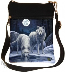 Picture of Warriors of Winter Wolf Small Shoulder Bag (Lisa Parker) 23cm
