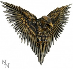 Picture of Blade Raven Wall Plaque Bronze 27 cm