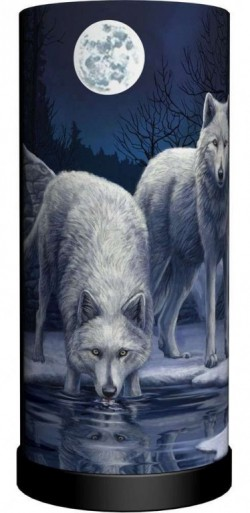 Picture of Warriors of Winter Wolf Cylindrical Table Lamp (Lisa Parker) 28 cm