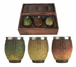 Picture of Drogon, Rhaegal, Viserion Dragon Egg Shot Glasses Game of Thrones