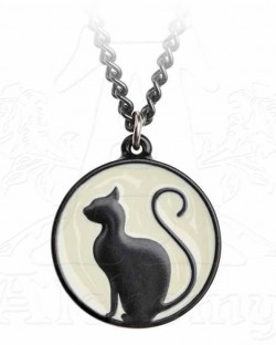 Picture of Black Cat on the Moon Pendant
