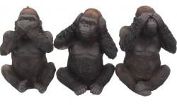 Picture of Three Wise Gorillas Figurine