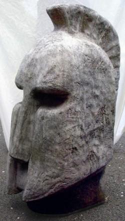 Picture of Trojan Helmet Large Stone Sculpture