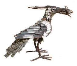 Picture of Lapwing Bird Metal Garden Ornament (Feeding)