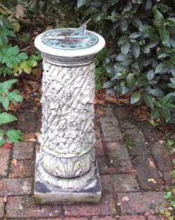 Picture of Ivy Column with Aged Brass Verdigris Sundial