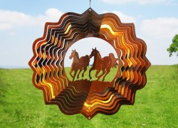 Picture of Horses Wind Spinner (Copper) (12 inch)