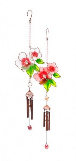 Picture of Flowers and Leaves Wind Chime