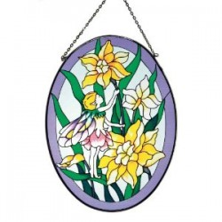 Picture of Flower Fairy Oval Suncatcher