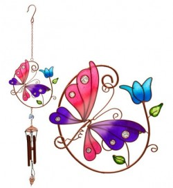 Picture of Butterfly and Tulip Wind Chime
