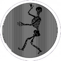Picture of Skeleton Animated Suncatcher Wind Spinner