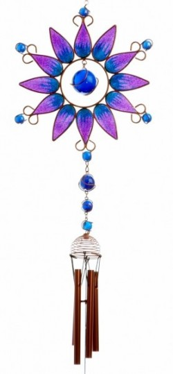 Picture of Purple Sunflower Windchime (Large)
