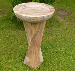 Picture of Sandstone Bird Bath with Twisted Column