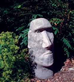 Picture of Moai Head Stone Sculpture