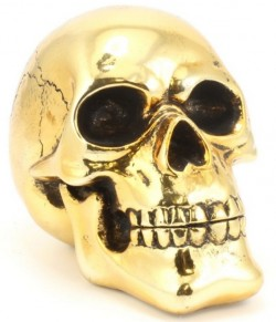 Picture of Gold Skull Ornament 15 cm