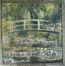 Picture of Pont Japonais Tapestry Throw by Monet