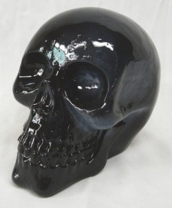 Picture of Black Solid Skull Ornament